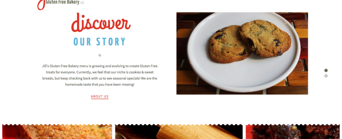 Jill's Gluten Free Bakery Website